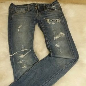 American Eagle Ripped Stretch Skinny Jeans